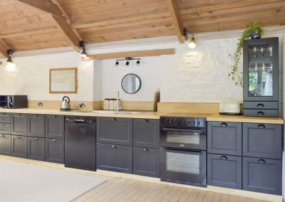 The kitchen at Valley View Barn, St Twynnells