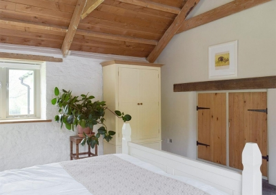 Bedroom #1 at Valley View Barn, St Twynnells