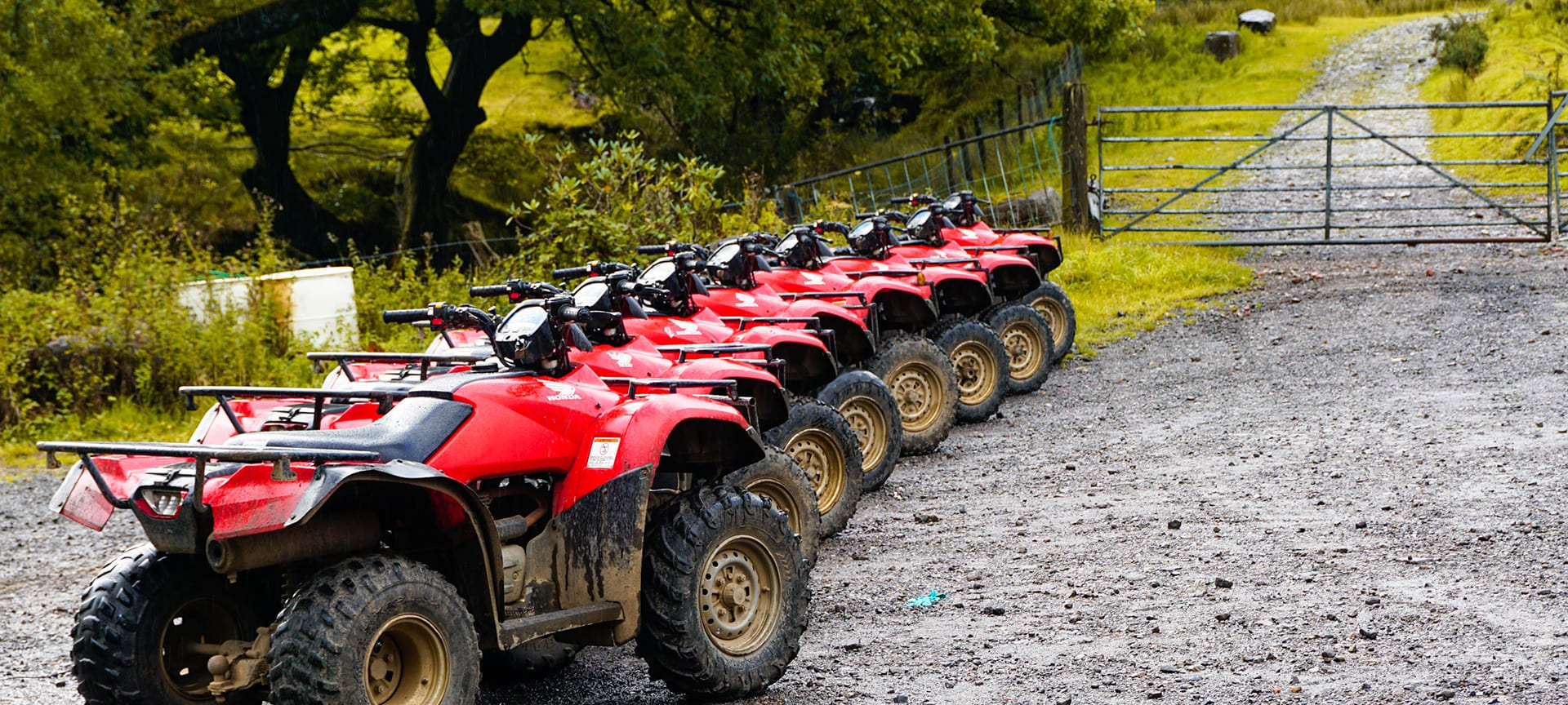 Take your breath away with the adventure and thrill of navigating quad bikes through 175 acres of hills and woodlands!