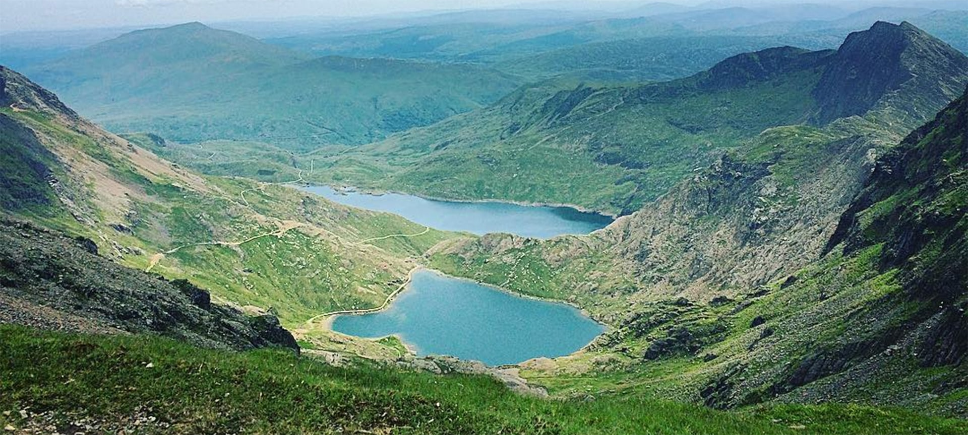 The view from the top of Mount Snowdon taking in the sight of the lake Llyn Llydaw has been named the best view in Britain. The picturesque landscape topped a poll of more than 2,500 people, beating the Three Sisters mountains in Scotland and Stonehenge in Wiltshire to the top spot.
