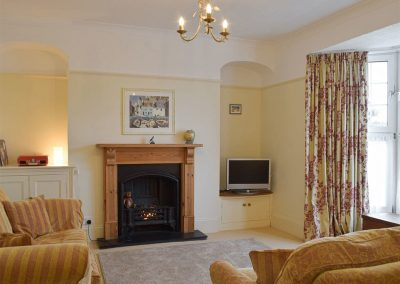 The living area at Y Traethdy, Tenby