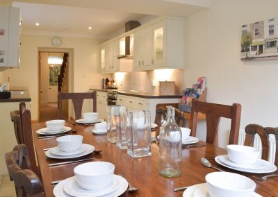 The dining area at Y Traethdy, Tenby