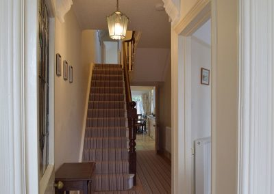 The hallway & stairs at Y Traethdy, Tenby